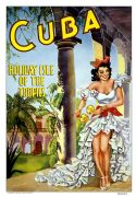 Vintage Travel Poster Cuba Holiday Isle of the Tropics